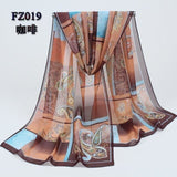 Women Chiffon Scarf Soft Silk Shawl - 11 colors-Scarf-Sour Grapes Online-Coffee-
