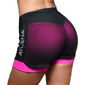 Women Fashion Casual Active Workout Breathable Pink Shorts-Shorts-Sour Grapes Online-Pink-S-