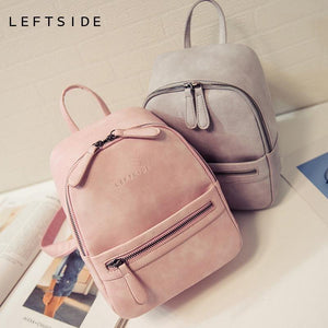 Women Fashion Casual PU Leather Small Backpack-Backpack-Sour Grapes Online-Black-