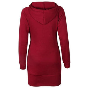 Women Fashion Hoodies Long Sleeve Sweatshirt Plus Size Pullover-Hoodies-Sour Grapes Online-Wine Red-S-
