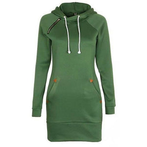 Women Fashion Hoodies Long Sleeve Sweatshirt Plus Size Pullover-Hoodies-Sour Grapes Online-Army Green-S-