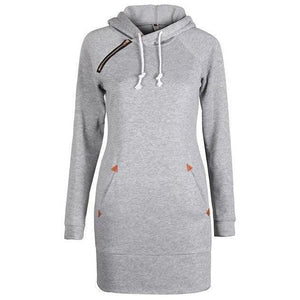 Women Fashion Hoodies Long Sleeve Sweatshirt Plus Size Pullover-Hoodies-Sour Grapes Online-Light Grey-L-