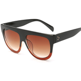 Women Flat Top Mirror Cat Eye Sunglasses-Shades-Sour Grapes Online-Red-