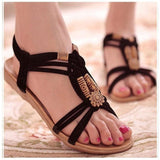 Women Gladiator Theme Summer Shoes Ladies Fashion Sandals-Sandals-Sour Grapes Online-Black-5-