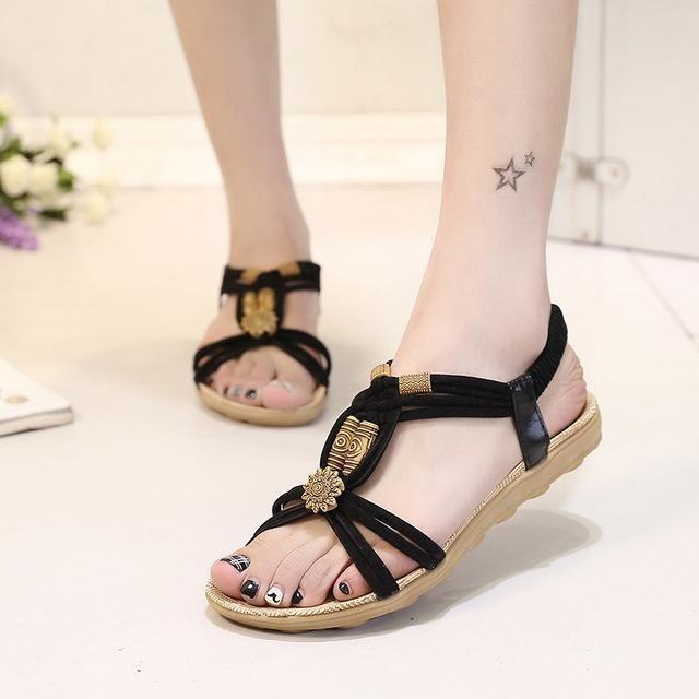 Women Gladiator Theme Summer Shoes Ladies Fashion Sandals-Sandals-Sour Grapes Online-Black-6-