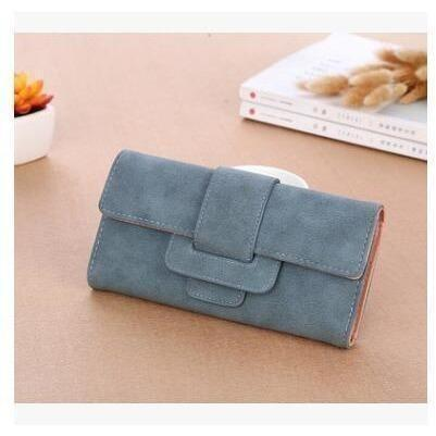 Women Leather Wallets Female Card Holders Coin Purse-Wallet-Sour Grapes Online-Blue-