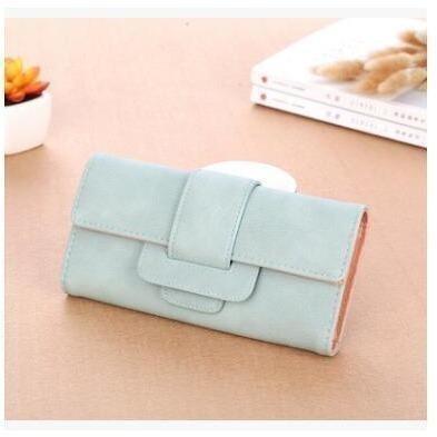 Women Leather Wallets Female Card Holders Coin Purse-Wallet-Sour Grapes Online-Light Green-