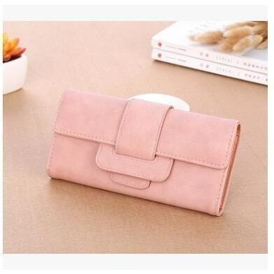 Women Leather Wallets Female Card Holders Coin Purse-Wallet-Sour Grapes Online-Pink-