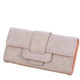 Women Leather Wallets Female Card Holders Coin Purse-Wallet-Sour Grapes Online-Light Grey-