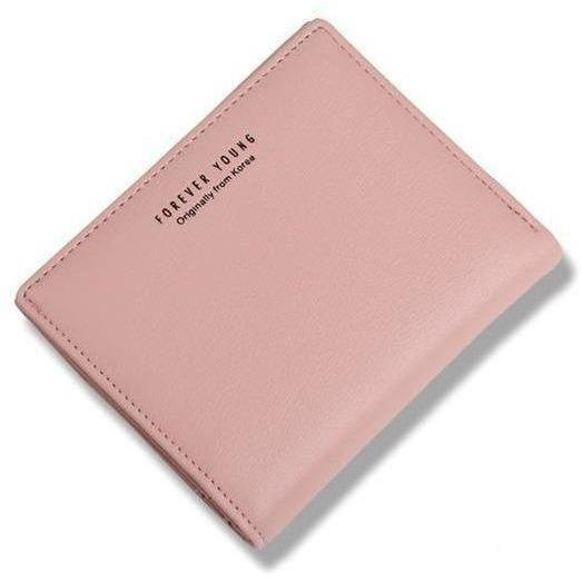 Women Lovely Leather Zipper Wallet Fashion Lady Portable Multifunction Small Solid Color Change Purse Hot Female Clutch Carteras-Wallet-Sour Grapes Online-pink-