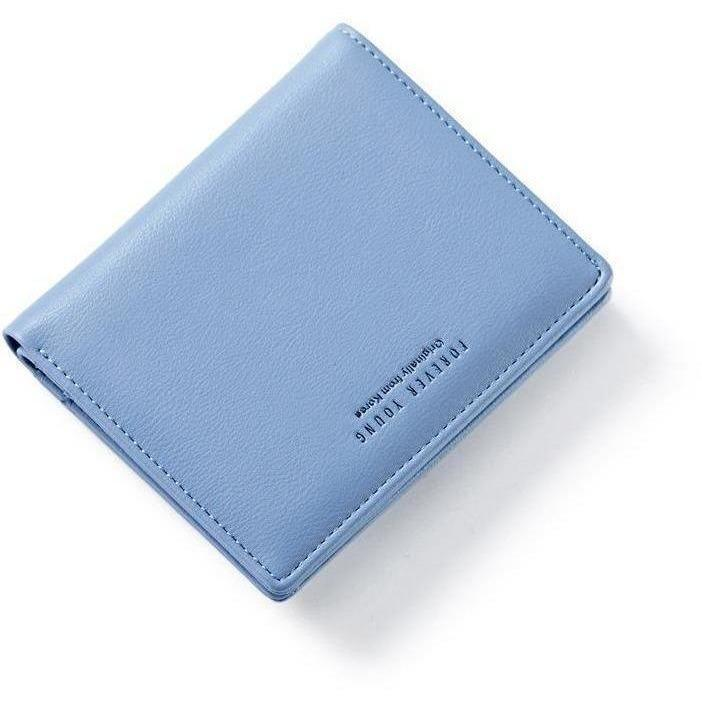 Women Lovely Leather Zipper Wallet Fashion Lady Portable Multifunction Small Solid Color Change Purse Hot Female Clutch Carteras-Wallet-Sour Grapes Online-Grey-