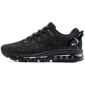 Women Lightweight Reflective Mesh Vamp Black Trainers-Sneakers-Sour Grapes Online-Black-4-