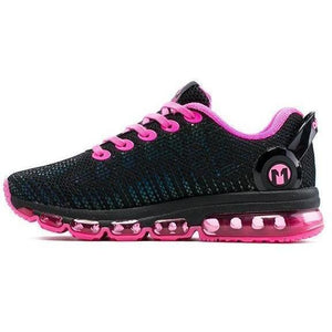 Women Lightweight Reflective Mesh Vamp Pink Trainers-Sneakers-Sour Grapes Online-Pink-4-