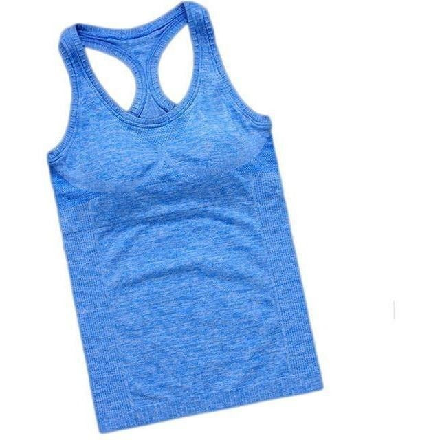 Women Outdoor Fitness Sport Hot Yoga Jogging Tank Top-Top-Sour Grapes Online-Blue-S-
