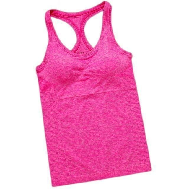 Women Outdoor Fitness Sport Hot Yoga Jogging Tank Top-Top-Sour Grapes Online-Pink-S-