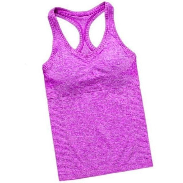 Women Outdoor Fitness Sport Hot Yoga Jogging Tank Top-Top-Sour Grapes Online-Purple-S-