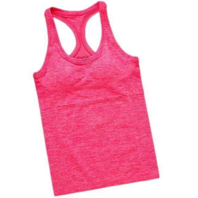 Women Outdoor Fitness Sport Hot Yoga Jogging Tank Top-Top-Sour Grapes Online-Red-S-