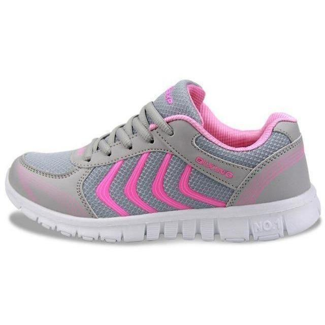 Women Outdoor Running Shoes Breathable Sneakers-Sneakers-Sour Grapes Online-Grey Pink-5.5-
