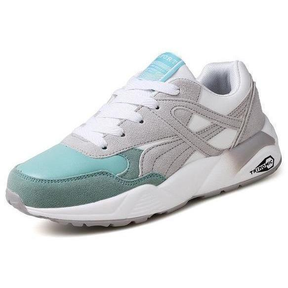 Women Outdoor Sport Running Shoes Breathable Sneakers-Sneakers-Sour Grapes Online-Grey Green-6-
