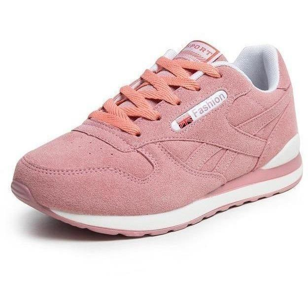 Women Outdoor Sport Running Shoes Breathable Sneakers-Sneakers-Sour Grapes Online-Pink-6-