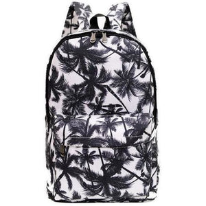 Women Printed Fashion Canvas Retro Casual Travel Backpack-Backpack-Sour Grapes Online-Coconut Tree-