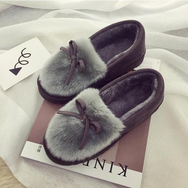 New 2016 women snow boots thick plush winter warm shoes fashion slip on flat waterproof women ankle boots cotton-padded shoes-Shoes-Sour Grapes Online-Gray-5-