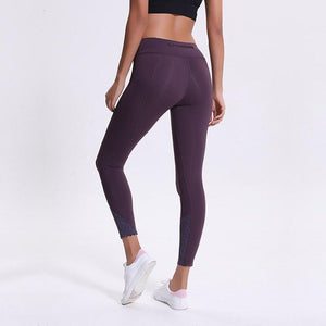 Women Tights Tummy Control Leggings Gym Sports Zip Pocket Pants