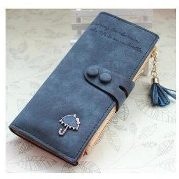 Women Trendy ID Card Holders Cute Leather Wallets-Wallet-Sour Grapes Online-Deep Blue-