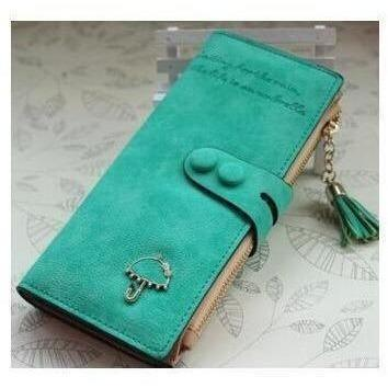 Women Trendy ID Card Holders Cute Leather Wallets-Wallet-Sour Grapes Online-Green-
