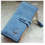 Women Trendy ID Card Holders Cute Leather Wallets-Wallet-Sour Grapes Online-Light Blue-