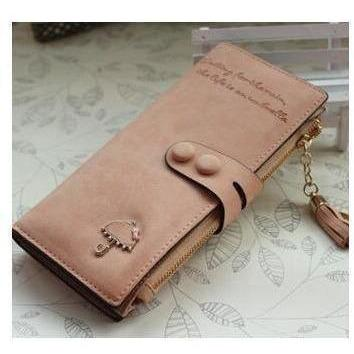 Women Trendy ID Card Holders Cute Leather Wallets-Wallet-Sour Grapes Online-Pink-