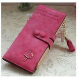 Women Trendy ID Card Holders Cute Leather Wallets-Wallet-Sour Grapes Online-Rose-