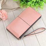 Women Wallets Candy Oil Leather Wallet Long Design Day Clutch Casual Lady Cash Purse Women Hand Bag Carteira Feminina HQB1673-Wallet-Sour Grapes Online-pink-