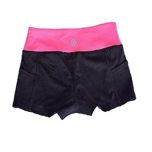 Yoga Shorts With Pockets Running Shorts Women Black Gym Shorts