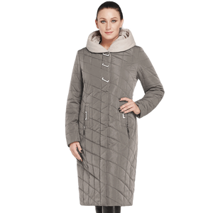 Zipper Jacket Slim Coat Cotton Hooded Parka For Women
