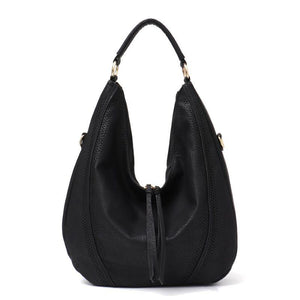 Zipper Tassel Handbag Soft Leather Hobo bag Shoulder Bag
