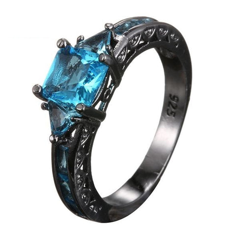 Stone Blue Diabetes Awareness Ring