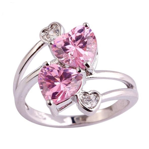 **Free Shipping**<br> Pink Loving Heart Ring