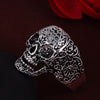 Image of Hot Punk Style Flower Skull Biker Fashion Skeleton Ring