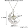 Image of Glowing In The Dark Hollow Moon & Heart Choker Pendant Necklaces