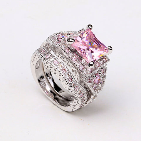 **Free Shipping**<br> Ring Set For Cancer Awareness