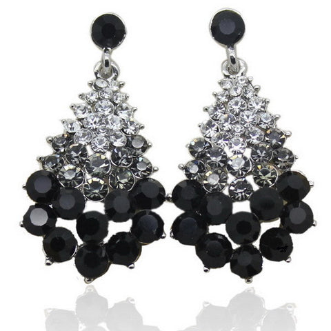 Casual Colorful Rhinestone Christmas Crystal Earrings