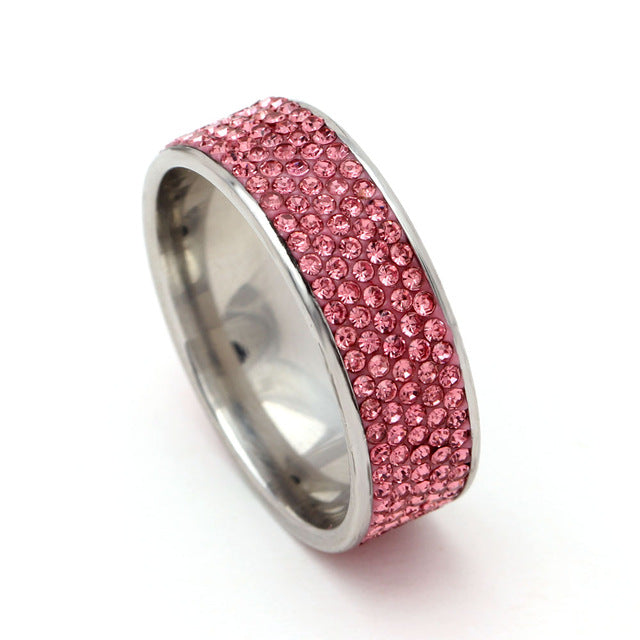 Love Pink Stainless Steel Ring