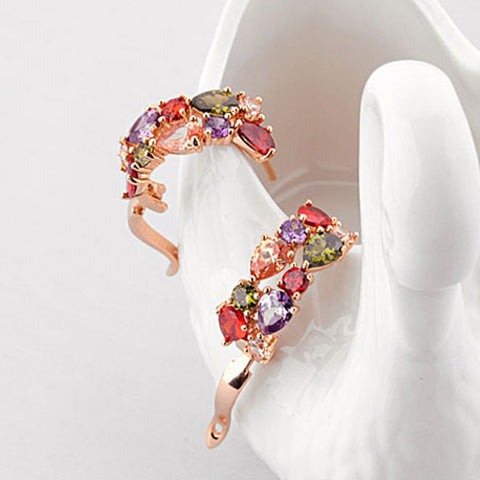 Multi-colour Cubic Zirconia Fashion Brincos Earrings