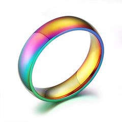 Titanium Rainbow Ring Of Hope