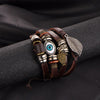 Vintage Stone Punk Design Turkish Eye Bracelets Wristband
