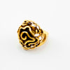 Image of Top Quality Gold Plate Bohemian Statement Punk Big Skull Ring 12 Piece/lot
