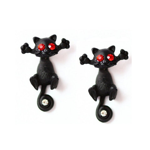 Cute Cat Multiple Color Classic FashionStud Earrings