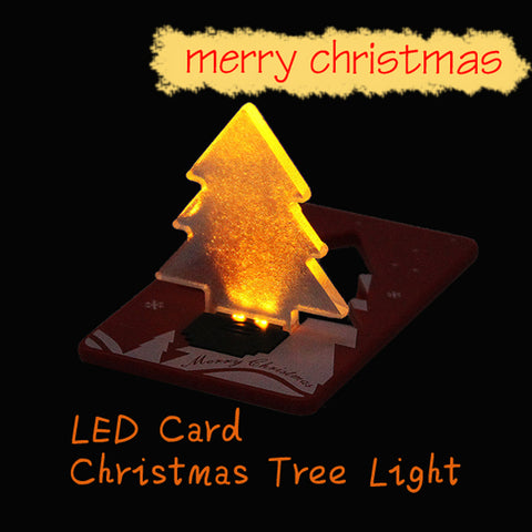 Christmas Decoration Pocket Folding Tree Shape LED Light