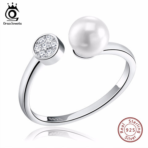 Adjustable Imitation Pearl Ring